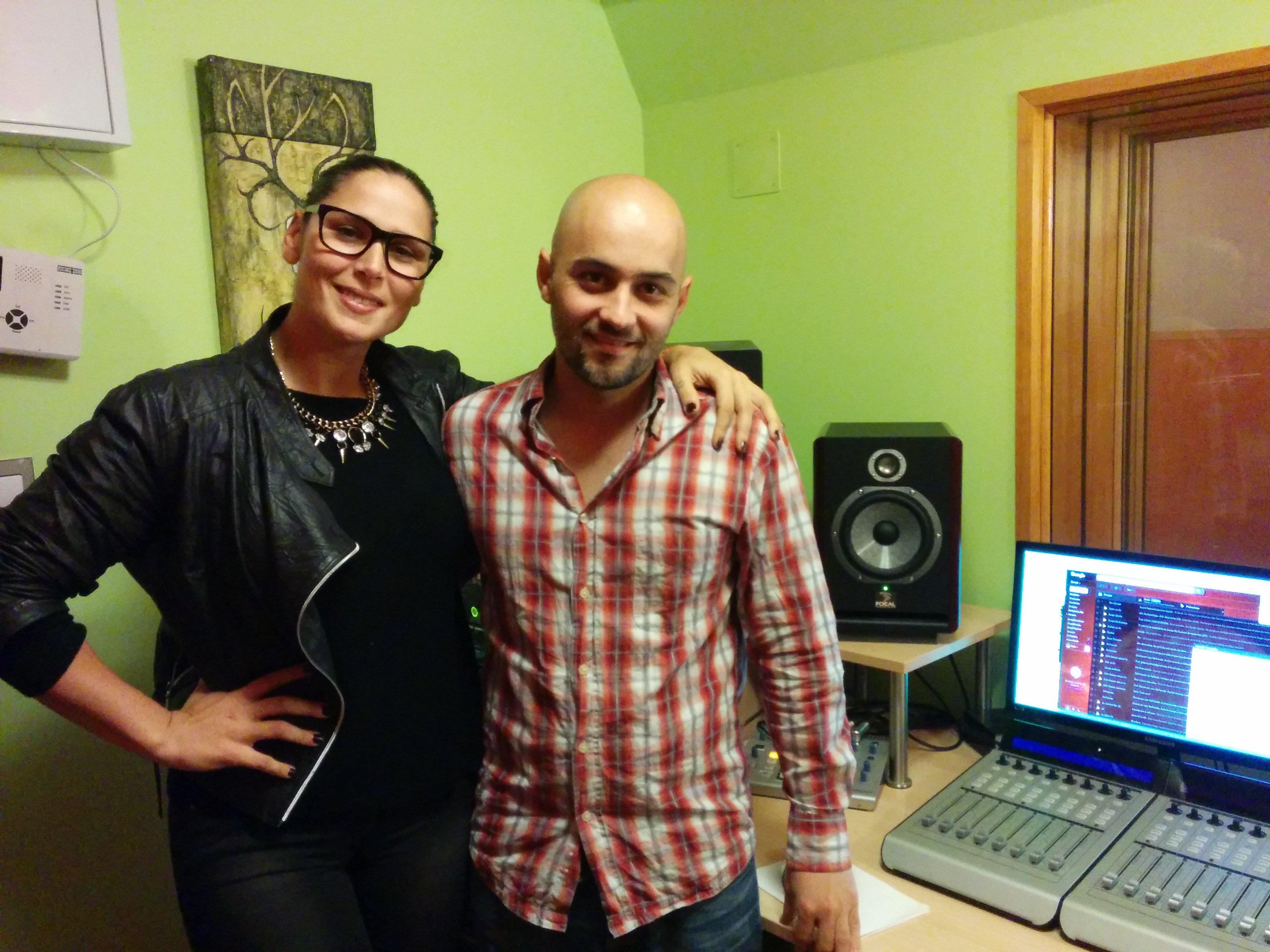 Grabación estudio Rosa López