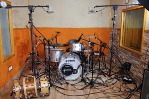 Batería Yamaha estudio de grabación