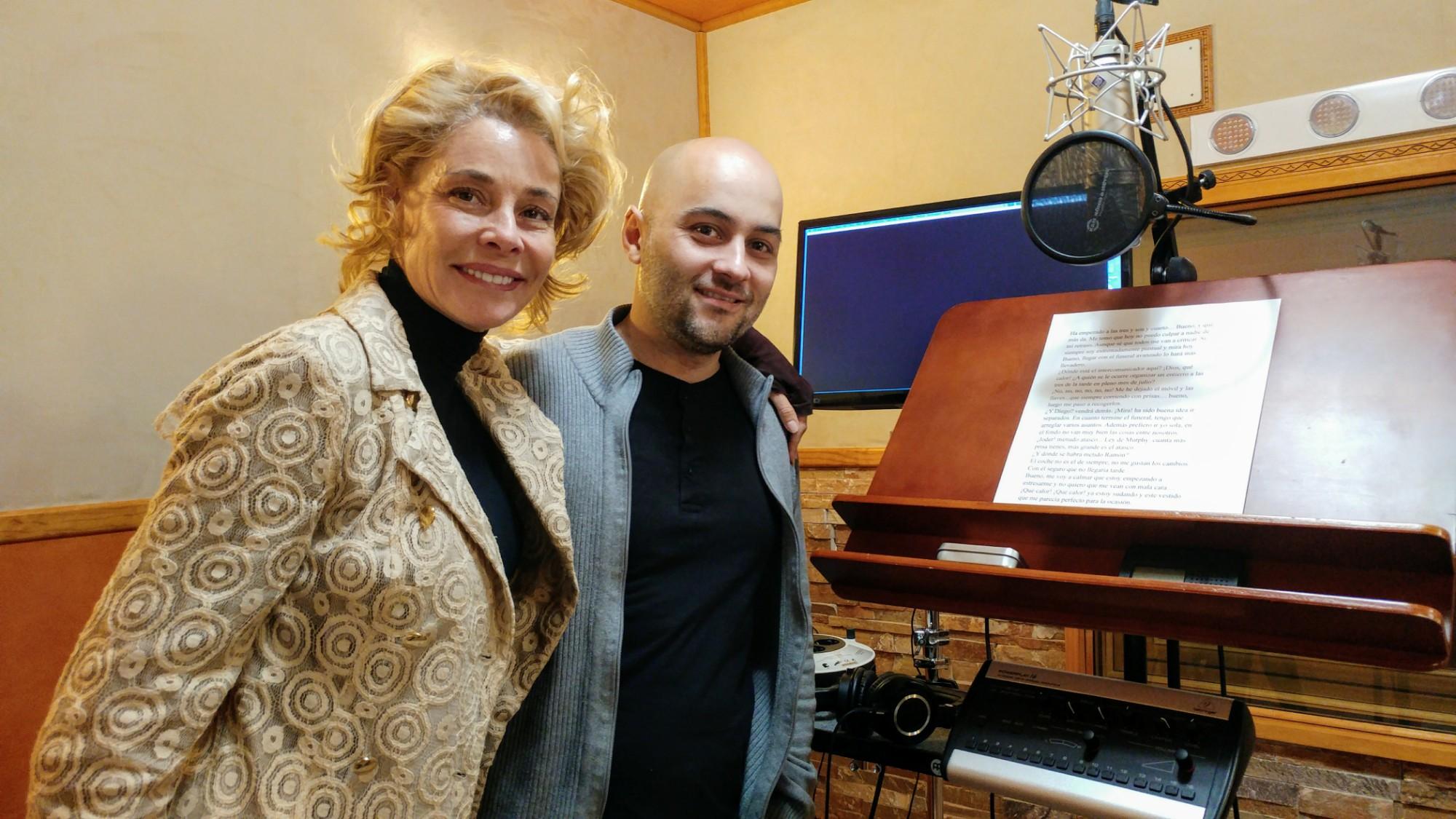 Belén Rueda grabando estudio