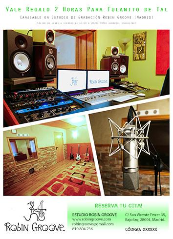 Vale regalo estudio de grabación